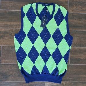 Polo Ralph Lauren Polo Golf Cotton Blue Green Vest